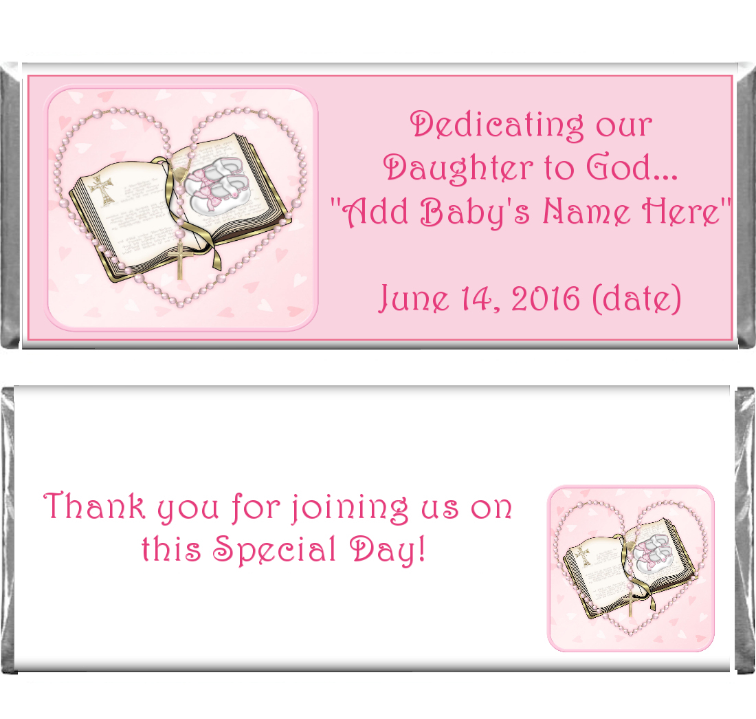 first communion Confirmation Custom Candy bar Wrappers