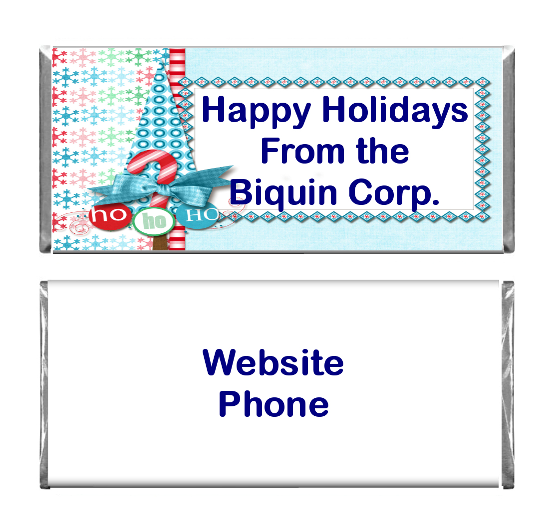Christmas Business Custom Candy Bar Wrapper