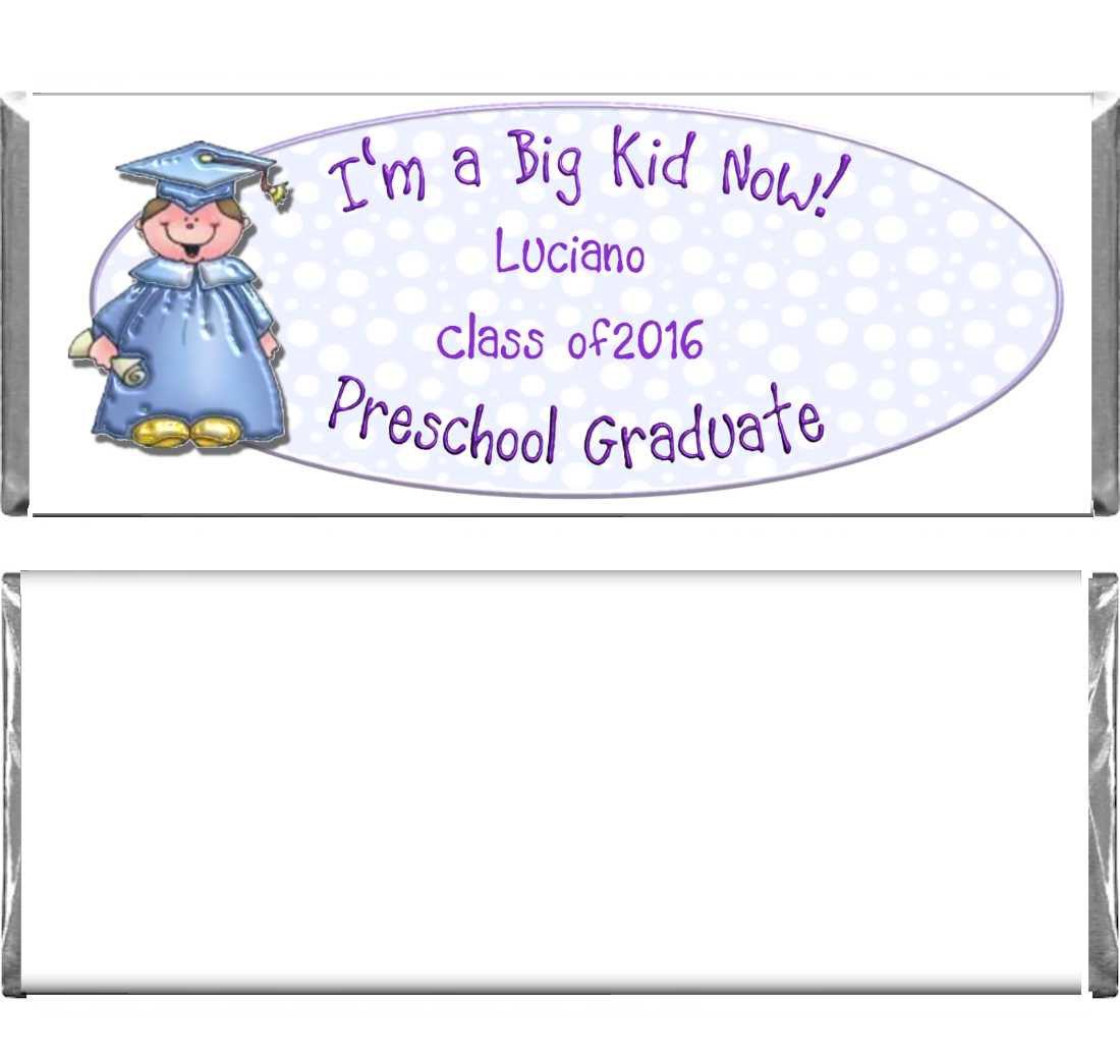 graduation custom candy bar wrapper